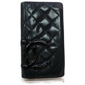 Auth Chanel Cambon Line Long Wallet #5878C13